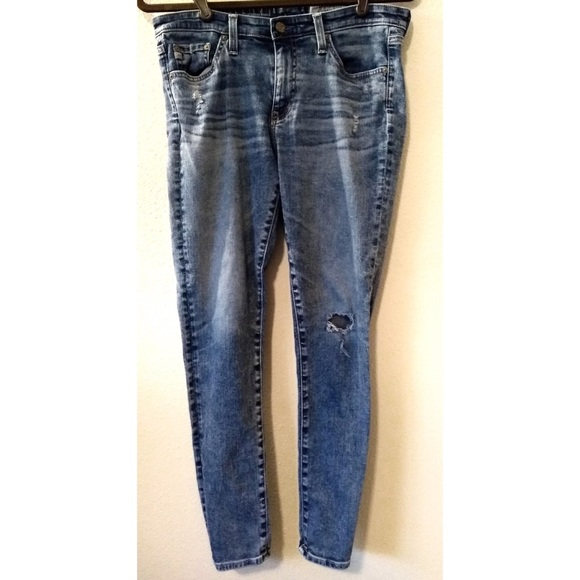 Ag Adriano Goldschmied Denim - AG ED Denim Middi Ankle Stone Acid Wash Skinny